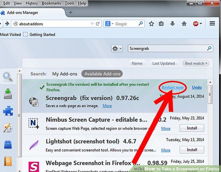 Firefox Screenshot Tool