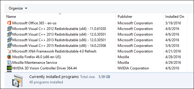 "Why Are There So Many ""Microsoft Visual C++ Redistributables"" Installed on My PC?"