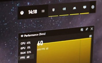 The Windows 10 Game Bar feature now shows the frame rate of games