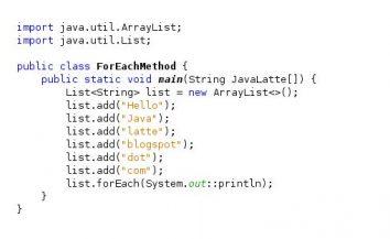 Tutorial for… each loop in Java (in very simple language)