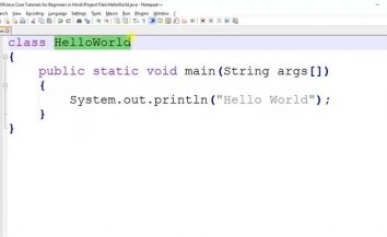 Learn Hello World in Java (in very simple language)